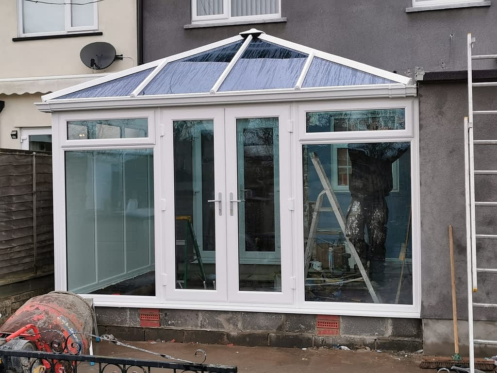 Blue tinted glass Conservatory