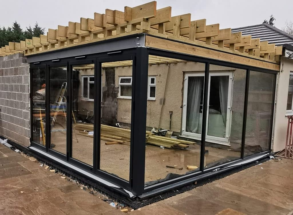 Anthracite Roof Lantern, Floor to Ceiling Window and Bifold Doors Bristol